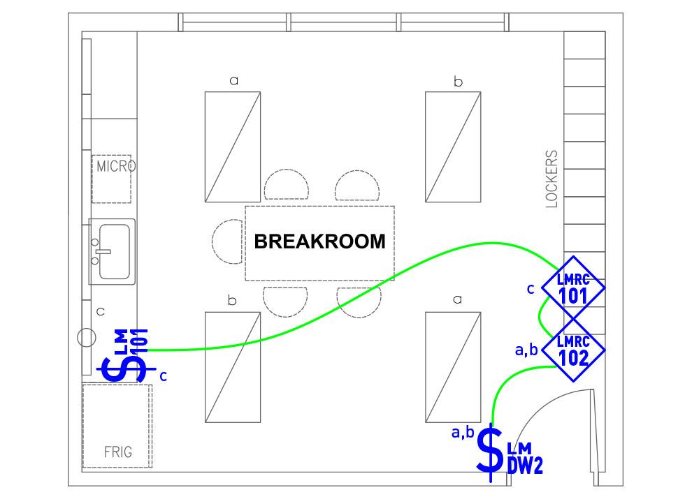 image of Breakroom/Kitchen wired layout