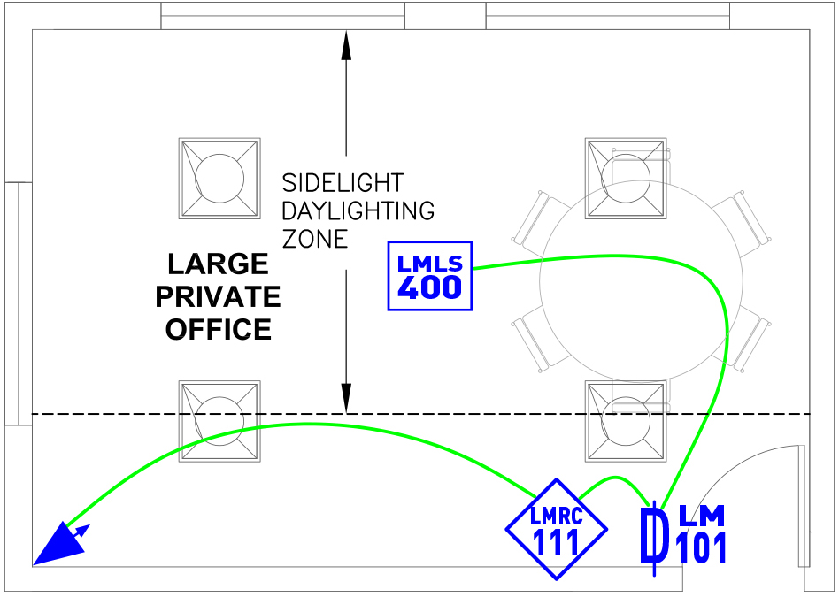 image of Large Private Office wired layout