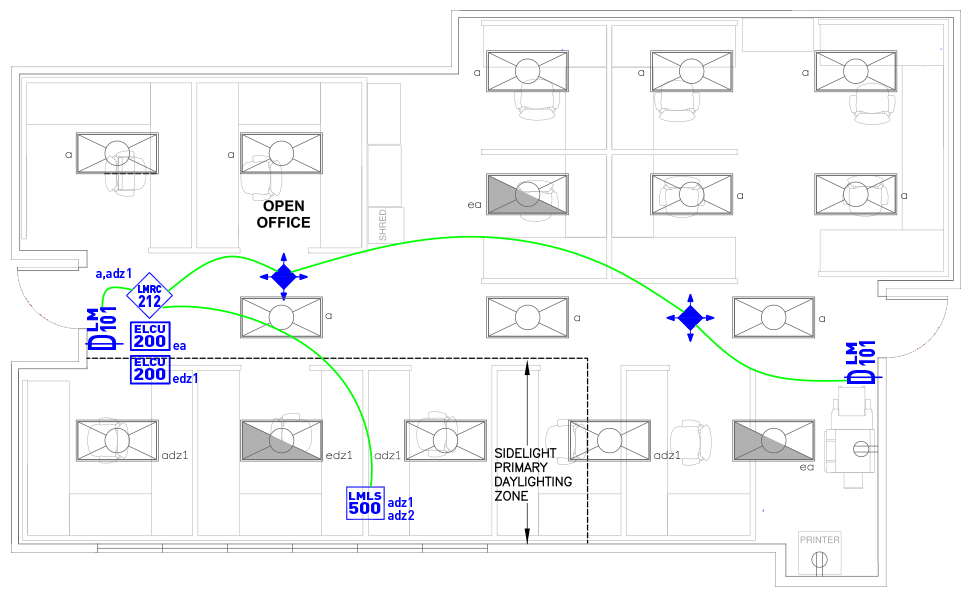 image of Open Office wired layout