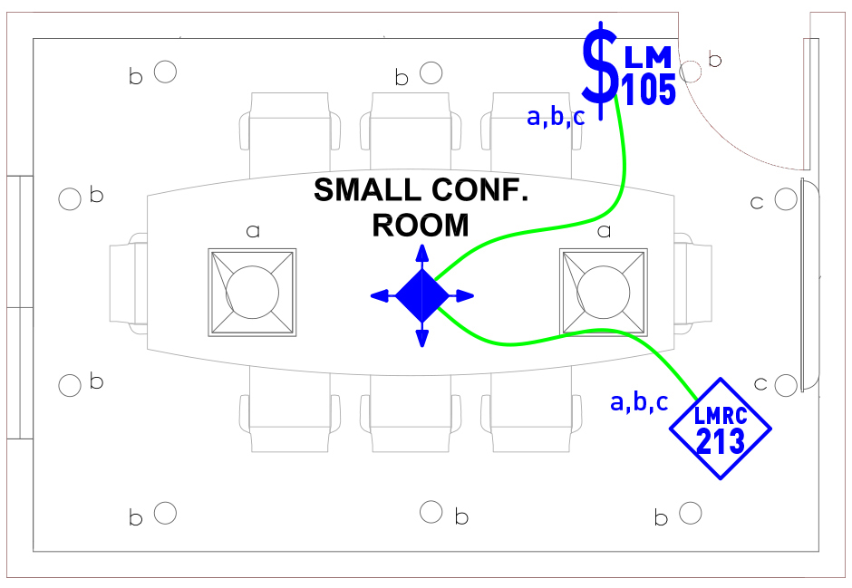 image of Small Conference Room wired layout