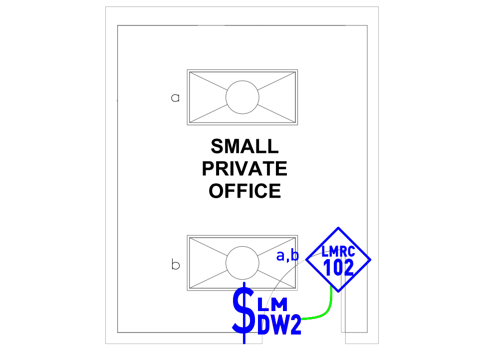image of Small Private Office wired layout